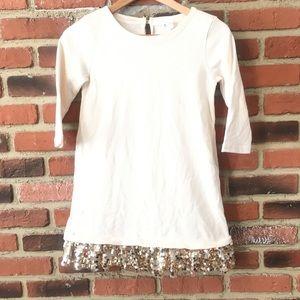 Crewcuts Sequin Skirt Sweatshirt Dress sz 10